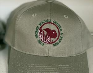 Baseball cap with Nature Center logo at the Friends Gift Shop at the Fort Worth Nature Center