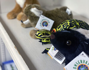 Stuffed animals at the Gift Shop at the Fort Worth Nature Center