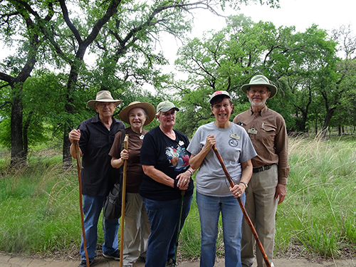 Group photo of docents at the Fort Worth Nature Center