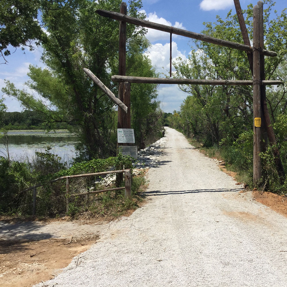 Greer Island entrance after completion of improvements at the Fort Worth Nature Center